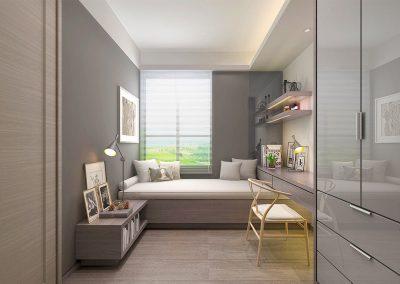 Schlafzimmer-grau